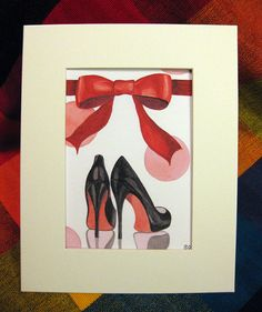 7e674db5c60e Louboutin Colorful Red and Black High Heel Shoe by shannonolson