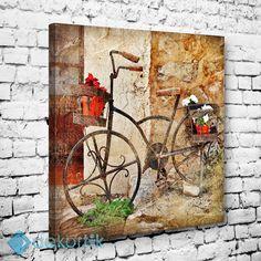 Vintage Bicycle Tablo #vintage_kanvas_tablo #retro_kanvas_tablo