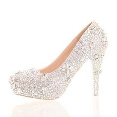 59.00$  Buy here - http://ali8qt.worldwells.pw/go.php?t=32688590204 - New 2016 fashion diamond wedding shoe thin up heel dress shoes elegant bridal wedding shoes single lady party pumps 59.00$