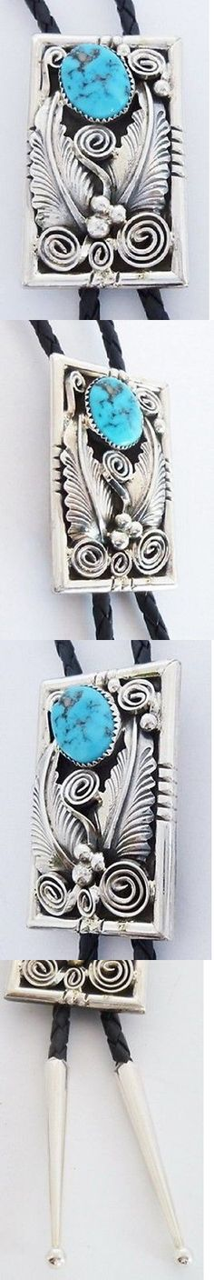 Bolo Ties 10292: Navajo Turquoise Bolo Tie Sterling Silver 39 -> BUY IT NOW ONLY: $198.0 on eBay!
