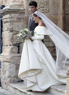 United: Lady Charlotte and her new husband Alejandro Santo Domingo leave the church togeth...