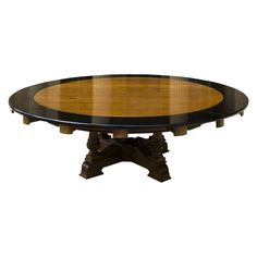 Massive Round Dining Table  England  19th Century  expands to 13' in diameter