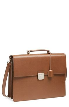 Salvatore Ferragamo  Revival  Leather Briefcase available at  Nordstrom Work  Bags, Briefcases, b2b63f7fa2