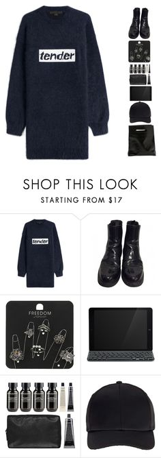 """tender"" by ashola18 ❤ liked on Polyvore featuring Alexander Wang, Prada, Topshop, Logitech, Grown Alchemist, Miss Selfridge and Marie Turnor"