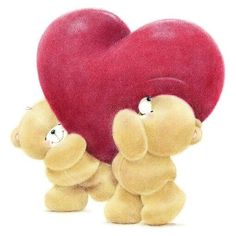 by Florynda del Sol ღ☀¨✿ ¸.ღ ♡♥♡Happy Valentine's day! Cute Images, Cute Pictures, Friend Cartoon, Blue Nose Friends, Love Bear, Tatty Teddy, Cute Teddy Bears, Friend Pictures, Friends Forever