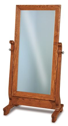 Milwaukee Sleigh Cheval Mirror - Countryside Amish Furniture