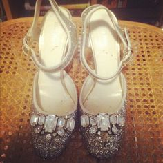 Vintage Miu Miu glitter shoes