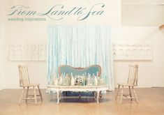 Lovely inspiration and color palette for this  land to sea wedding     by Enjoy Events Co. via Green Wedding shoes