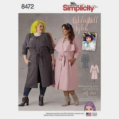 a48e385cccb Plus Size Trench Coat Pattern Simplicity Pattern 8472 Ashley Nell Tipton Womens  Coats Womens Plus Size or - New and Uncut