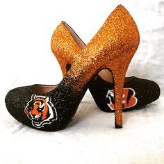 Cincinnati Bengals glitter sports team heels by LarkhamAsylum