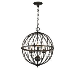 Reid 3-Light Foyer Pendant Orb Modern Chic fixture