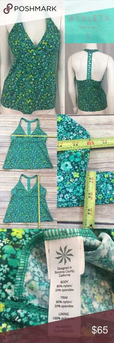 🌺Sz Large Athleta Green Floral Racerback Tank Top Measurements are in photos. Normal wash wear, no flaws. E3  I do not comment to my buyers after purchases, due to their privacy. If you would like any reassurance after your purchase that I did receive your order, please feel free to comment on the listing and I will promptly respond.   I ship everyday and I always package safely. Thank you for shopping my closet! Athleta Tops Tank Tops