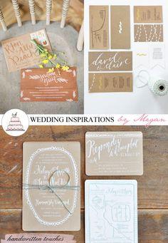 Handwritten wedding invites