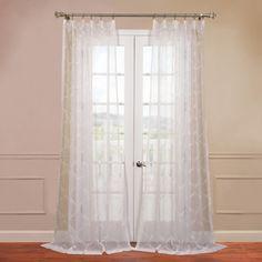 Trellis Sheer Rod Pocket Curtain Panel | Joss & Main