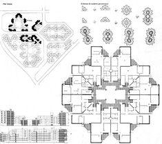 Cellular Urbanism: Taller d'Arquitectura & the City in Space Modular Design, Floor Plans, Diagram, How To Plan, Space, City, Drawing, Floor Space, Cities