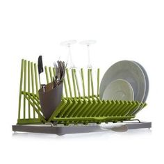 High and Dry Dish Rack Apple Green Kitchen, Green Kitchen Decor, Kitchen Ideas, Kitchen Stuff, Kitchen Dish Drainers, Green Kitchen Accessories, Kitchen Dishes, Kitchen Utensils, Kitchenware