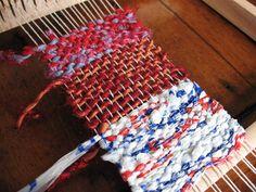 Bildergebnis für weaving  strips of plastic bag