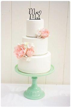 Custom Wedding Cake Topper Mr and Mrs Heart Cake Topper on Etsy, $15.00