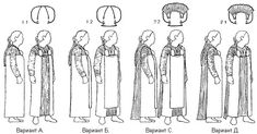 """The front and back panel ideas didn't originate with Thor Ewing in """"Viking Clothing,"""" but may have with a guy called Flemming Bau in the 1980s. He proposed that the suspended dress was open in the front, but a longer backcloth/train could be attached to the back from the brooches, along with a front panel to cover the front."""
