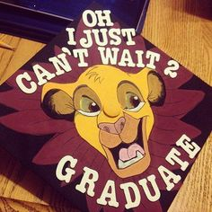 With graduation just around the corner and finals almost over its time to answer the biggest question yet… what will you decorate your cap with? Here we have a list of the top 15 Cap Designs to get your wheels turning and your inspiration brewing Disney Graduation Cap, Graduation Cap Designs, Graduation Cap Decoration, Graduation Diy, Grad Cap, High School Graduation, Graduate School, Graduation Invitations, Graduation Photoshoot
