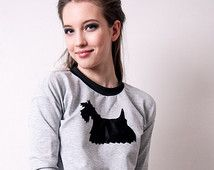 Scottish Terrier sweater, dog sweater, dog lover gift, dog clothes, dog lover gift, Scottish Terrier shirt, womens sweater, hipster sweater