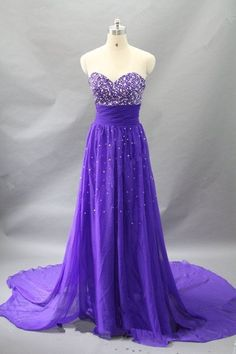 High Quality Sparkle Purple Prom Gown 2017, Sparkle Prom Dresses,Evening Dresses
