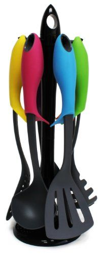 Best selling of Love Your Kitchen Elevate Kitchen Utensil Set with Carousel (7 Piece Set)