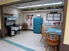 This is a kitchen in a Renfrew County Nursing Home. Residents can clean, do dishes and putter like they used to at home. They can also gather and socialize at the kitchen table, just like old times!