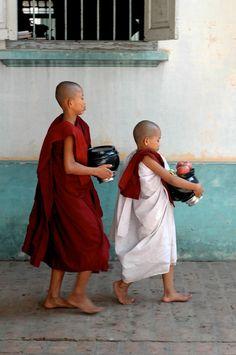 Burma, Monk School Breakfast