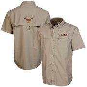 Texas Longhorns Rapid Button-Up Fishing Shirt - Tan #Fanatics