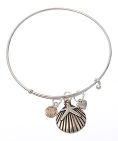 Look what I found on #zulily! Silvertone Seashell Charm Bracelet by Gabby & Gia #zulilyfinds