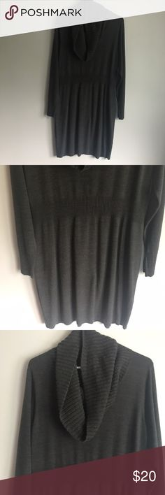 NWOT Charcoal Grey Apt 9 Sweater Dress w/ Cowlneck New without tags! Fall will be here before you know it. Pair with black leggings or tights and boots for a classic look. Apt. 9 Dresses