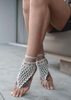 Barefoot Sandals Pattern, Barefoot Sandals Wedding, Crochet Sandals, Crochet Shoes, Surfer Girl Style, T Strap Sandals, Bare Foot Sandals, Cleopatra, Hand Crochet