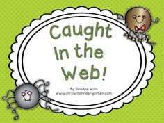 """Math & Literacy Activity, """"Caught in a Web"""" (free; from Deedee Wills on TpT)"""