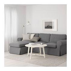 EKTORP 2-zitsbank en chaise longue - Nordvalla donkergrijs - IKEA
