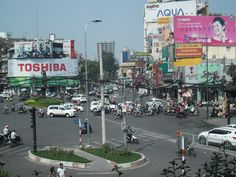 Watching Ho Chi Minh go about its day sitting upstairs in Starbucks is a great relaxing thing to do. Relaxing Things To Do, Vietnam Holidays, Ho Chi, Starbucks, Times Square, Cruise, Aqua, Travel, Cruises