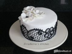 Gorgeous black and white cake for traditional engagement ceremony!