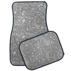 Shop Silver Glitter Sparkles Car Mat created by GreenerCityDesigns. Personalize it with photos & text or purchase as is! Bling Car Accessories, Car Interior Accessories, Car Accessories For Girls, Vehicle Accessories, Silver Car, Silver Glitter, Glitter Car, Car Interior Decor, Car Interior Design