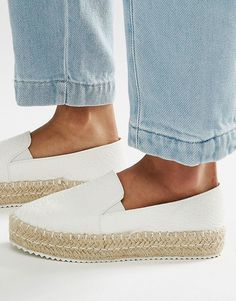 Image 1 ofLost Ink Miette White Espadrilles