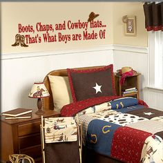 Boots Chaps and Cowboy HatsThat's What Boys are by wallcandyvinyl, $20.00 for the boys room!