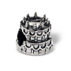 3 Tier Cake Real Sterling Silver Charm Bead