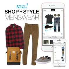 """New! Menswear"" by polyvore ❤ liked on Polyvore featuring GANT, Dsquared2, Sandqvist, Vans, women's clothing, women, female, woman, misses and juniors"