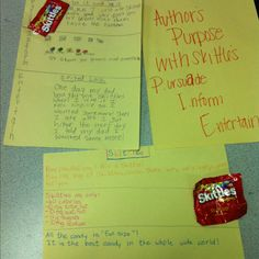 Author's purpose with skittle's!!! Worked so well!