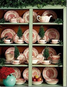 Best Christmas Decoration Ideas to Make Your Home the Merriest on the Block Love the display of nice Christmas dishes with trees in cups.Love the display of nice Christmas dishes with trees in cups. Christmas Dishes, Noel Christmas, Country Christmas, Simple Christmas, All Things Christmas, Vintage Christmas, Christmas China, Christmas Dinnerware, English Christmas