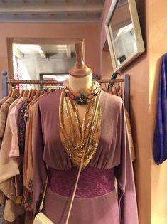 Lavender + gold Cavalli e Nastri look Via Mora 12 Milan, Italy