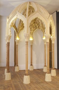 Joachim Tantau - Moroccan Pavilion with wooden Muqarnas dome during exhibition. Islamic Architecture, Historical Architecture, Art And Architecture, Islamic Motifs, Islamic Art, Arabesque, Architecture Concept Drawings, Backyard Gazebo, Geometric Designs