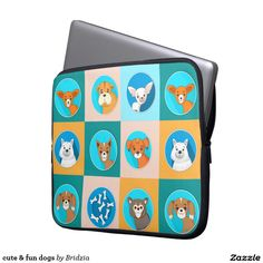cute & fun dogs computer sleeve