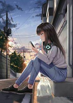 50 Super ideas for art girl short hair Anime Neko, Otaku Anime, Kawaii Anime Girl, Manga Kawaii, Cool Anime Girl, Chica Anime Manga, Pretty Anime Girl, Beautiful Anime Girl, Anime Art Girl