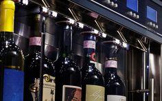 LED lighting beautifully highlights the bottle inside the dispenser WineEmotion Wine Dispenser