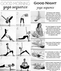 I've started to do a light yoga practice before bed, and thought this Good morning and Good night yoga sequence was a nice visual.: